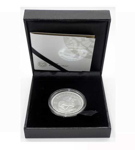Südafrika 1 Rand Krügerrand Silber 2018 Polierte Platte
