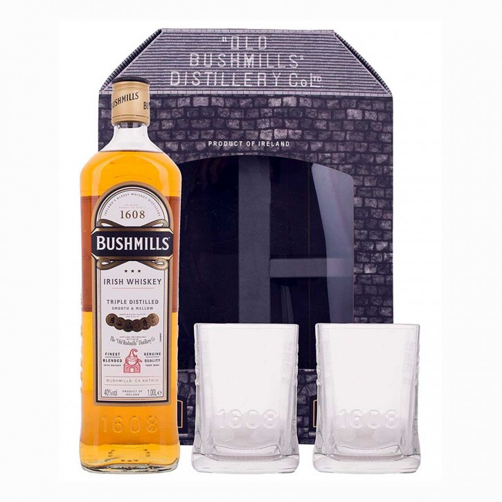 Bushmills Original Irish Triple Distilled Whiskey 1,0 l/40% incl. 2 Gläsern