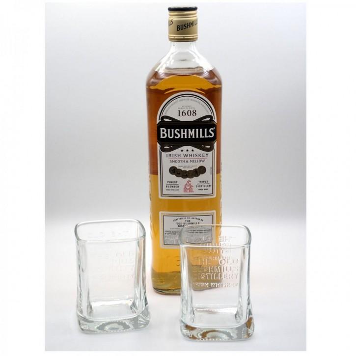 Bushmills Original Irish Triple Distilled Whisky 1,0 l/40% incl. 2 Gläsern
