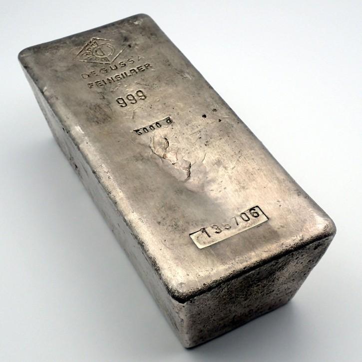 Degussa Silberbarren 5 Kilo .999 Silber