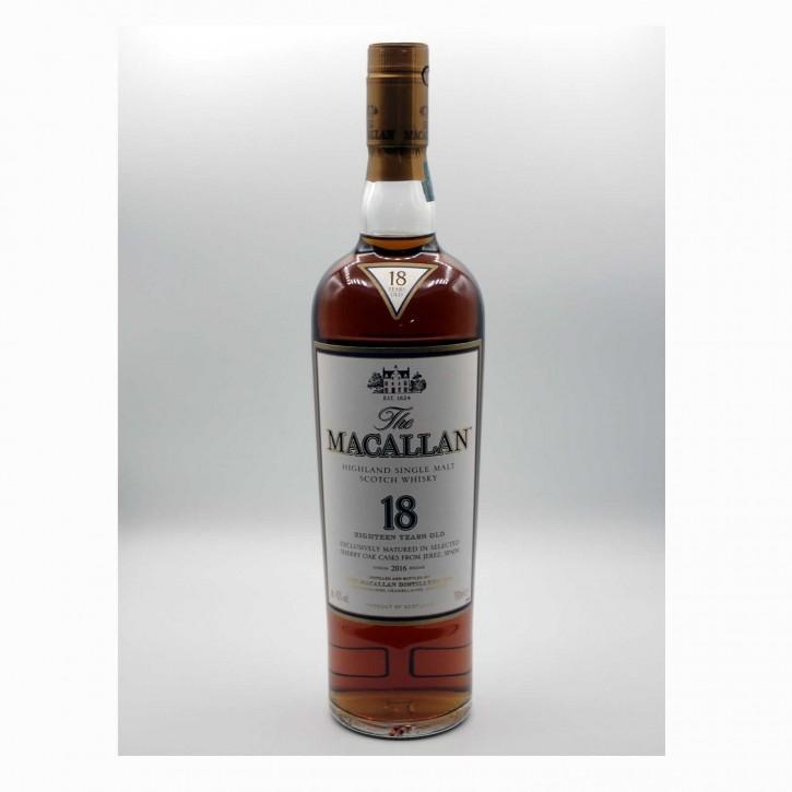 The Macallan 18 YO Sherry Cask Annual 2016 Release Single Malt Scotch Whisky 43 % 0,7 l