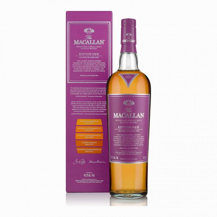 The Macallan Edition No. 5 Single Malt Scotch Whisky 48,5% 0,7 l 2019