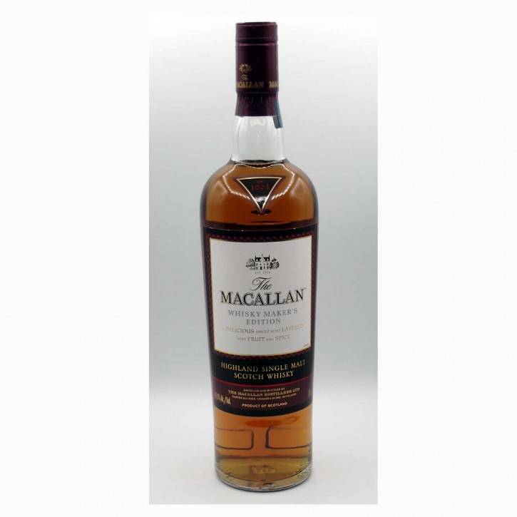 "The Macallan Whisky Maker`s Edition ""Spiritual Home"" Single Malt Scotch Whisky 42,8 % 0,7 l"