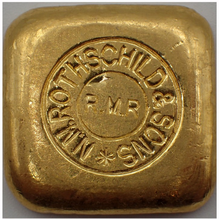 Goldbarren Rothschild 50 g .9999 Gold gegossen