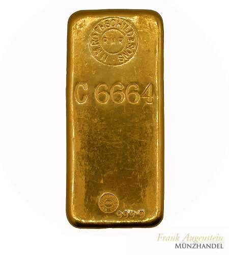 Goldbarren Rothschild 1 Kilo .9999 Gold gegossen