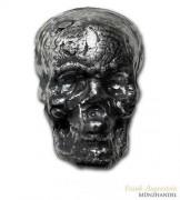 Silberbarren Totenkopf MK Barz 3,5 oz .999 Silber gegossen