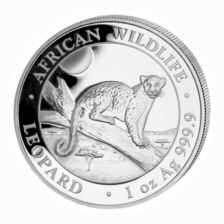 Somalia African Wildlife Leopard 1 oz Silber 2021