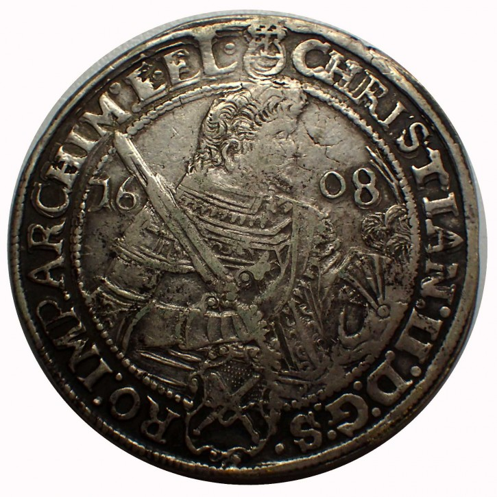 Sachsen Taler Christian II., Joh. Georg u. August 1608