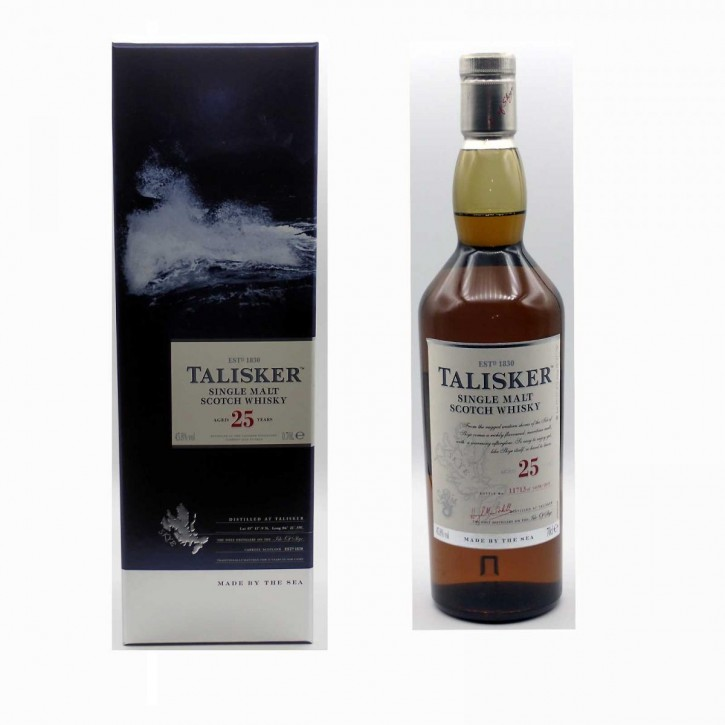 Talisker 25 Jahre Single Malt Scotch Whisky 45,8% 0,7 l