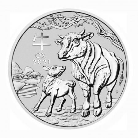 Australien $ 1 Silber 1 oz Lunar Serie III Ochse 2021