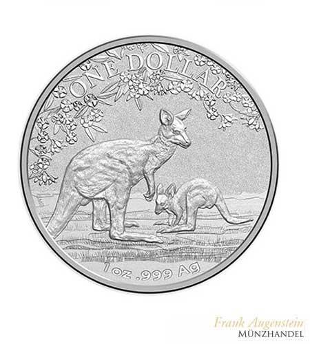 Australien $ 1 Silber Känguru RAM 2017 st