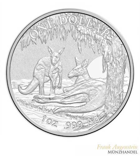 Australien $ 1 Silber Känguru RAM 2018 st