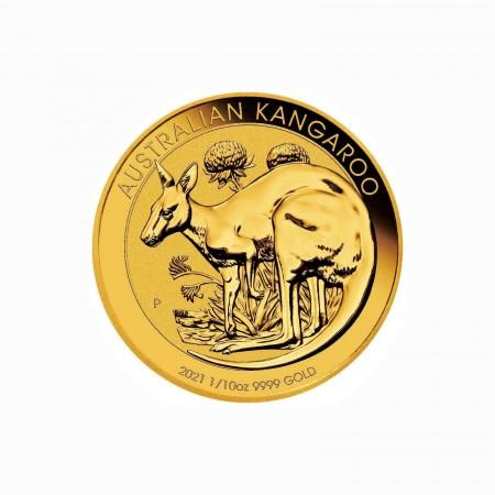 Australien $ 15 Gold Känguru 1/10 oz 2021