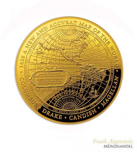Australien $ 100 New Map of the World Westliche Hemisphäre 1 oz Gold Domed coin 2018