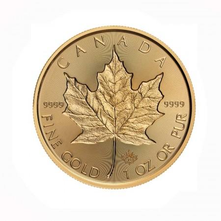 Canada $ 50 Maple Leaf 1 oz .9999 Gold 2019 Incuse