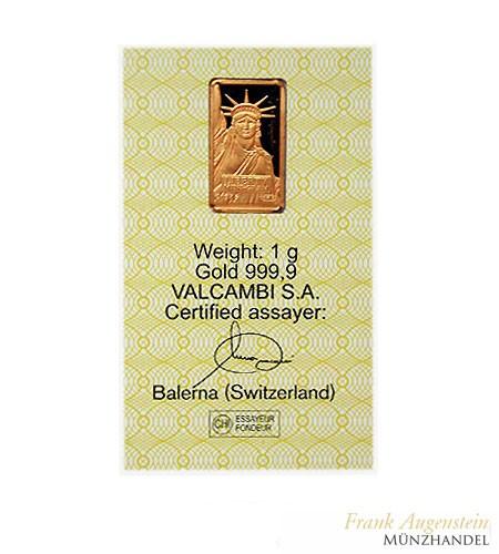 Credit Suisse Goldbarren 1 Gramm .9999 Gold
