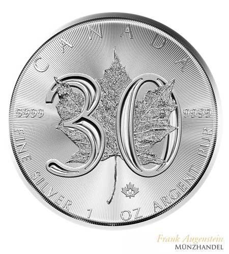 Canada $ 5 Silber 1 oz Maple Leaf 2018 30th Anniversary