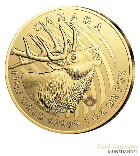 Canada $ 200 Call of the Wild Serie Motiv Hirsch 1 oz .99999 Gold 2017