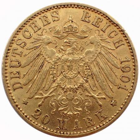 Deutsches Kaiserreich 20 Mark Preussen Wilhelm II. Gold
