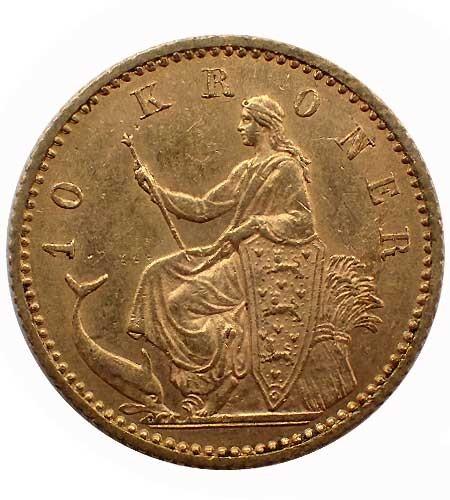 Dänemark 10 Kronen Gold 1900 Christian IX
