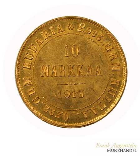 Finnland 10 Markkaa Gold 1913