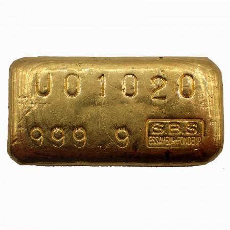 Goldbarren Swiss Bank Corporation 100g .9999 Gold gegossen