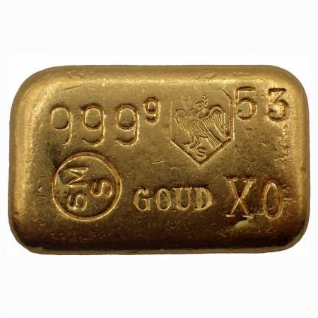 Goldbarren Schöne Edelmetaall B.V. 100g .9999 Gold gegossen