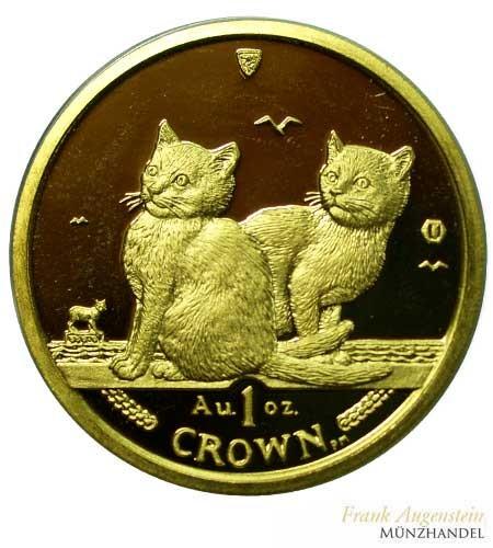 Isle of Man Balinese Kittens Cat 1 oz Gold 2003