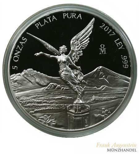 Mexiko Libertad/Siegesgöttin 2017 PP 5 oz Silber
