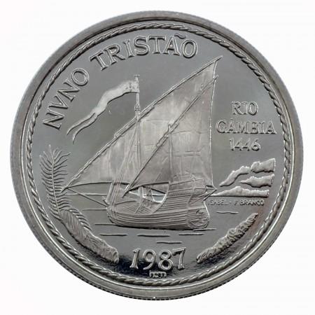 Portugal 100 Escudos Palladium Nuno Tristao 1987