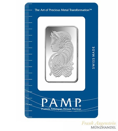Silberbarren Pamp Suisse 10 g .999 Silber Motiv Fortuna