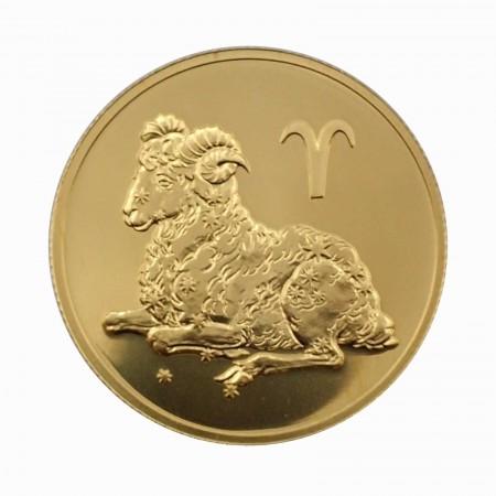 Russland 50 Rubel Gold 1/4 oz Sternzeichen Widder 2004