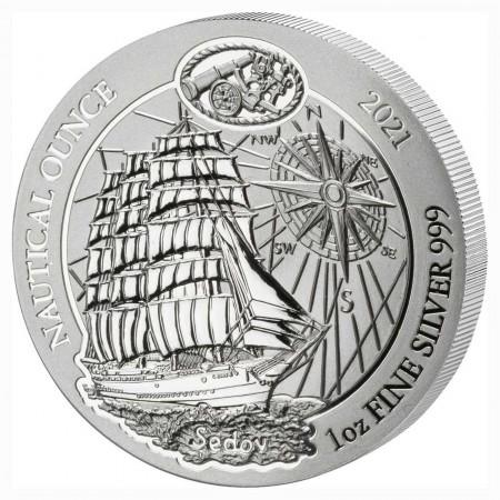 Ruanda 50 Francs 1 oz Silber Nautical Ounce Sedov 2021 BU