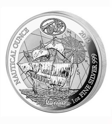 Ruanda 50 Francs 1 oz Silber Nautical Ounce Victoria 2019 Polierte Platte