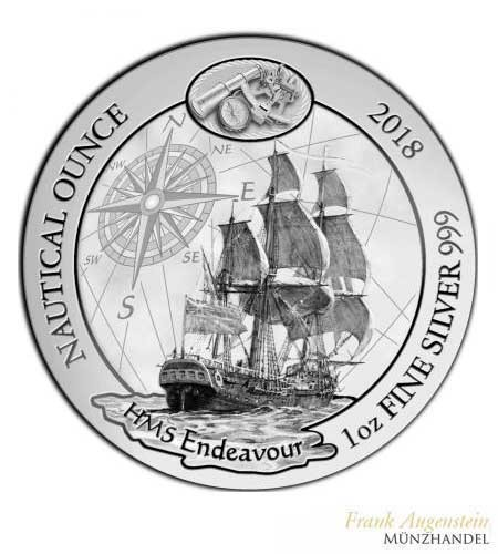 Ruanda 50 Francs 1 oz Silber Nautical Ounce Endeavour 2018 BU