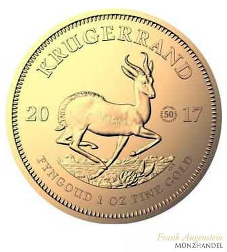 Südafrika Gold Krügerrand 1 oz 2017 - 50 Jahre Jubiläum