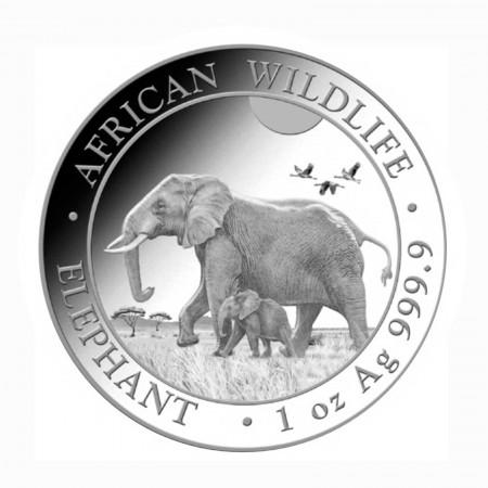 Somalia African Wildlife Elefant 1 oz Silber 2022