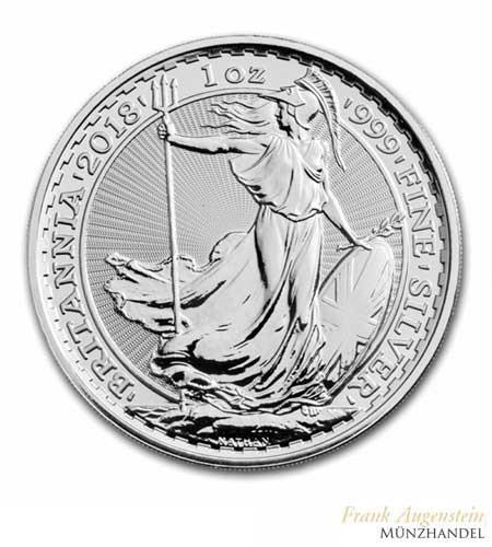 Großbritannien 2 Pfund Britannia Silber 2018