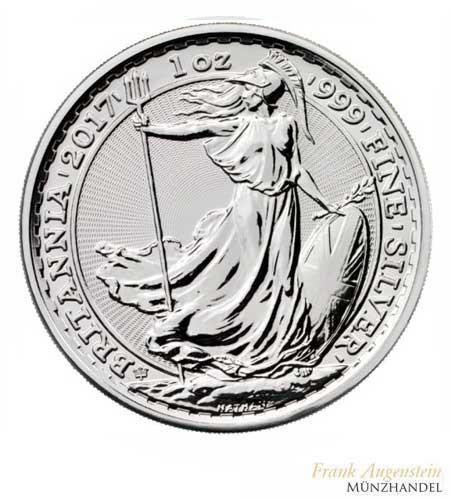Großbritannien 2 Pfund Britannia Privy Mark 20 Jahre Jubiläum Silber 2017