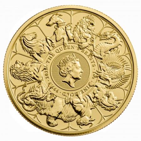 Großbritannien 1 oz Gold Queens Beast Completer Coin 100 GBP 2021
