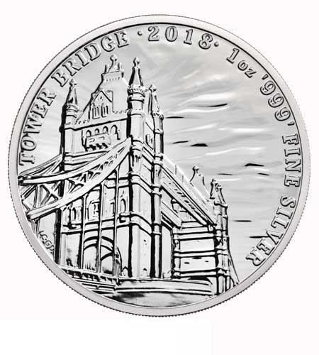 Großbritannien 2 Pfund Landmarks of Britain Tower Bridge Silber 2018