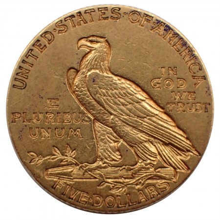 USA $ 5 Half Eagle Indian Head Gold 1911