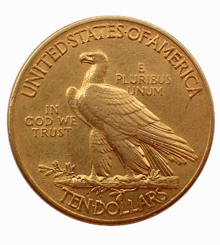 USA $ 10 Indian Head Gold 1914