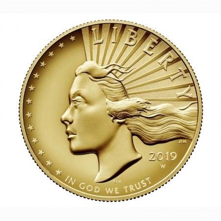USA $ 100 Gold American Liberty High Relief Gold 2019 - 2. Ausgabe