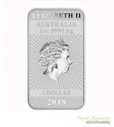 Australien $ 1 Drache/Dragon Rectangle 1 oz Silber 2018