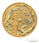 Australien $ 100 Dragon & Phoenix 1 oz Gold 2018