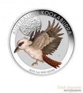 Australien $ 1 Silber 1 oz Kookaburra WMF Edition 2018 coloriert