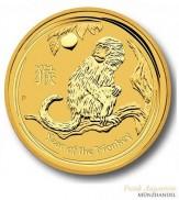 Australien $ 100 Lunar Jahr des Affen 1 oz Gold 2016