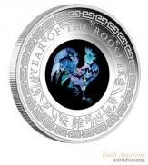 Australien $ 1 Opalserie Lunar Hahn 2017 1 oz Silber PP