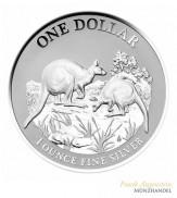 Australien $ 1 Silber Känguru 2014 st